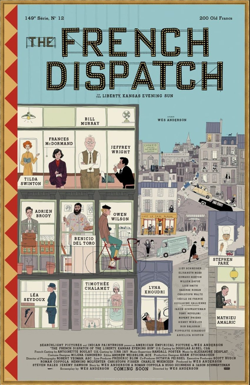 best movie poster fonts french dispatch poster font wes anderson font what is the font on the french dispatch poster