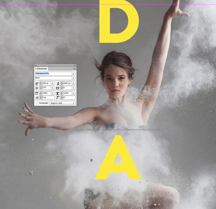 vertical text indesign typography quick tutorial