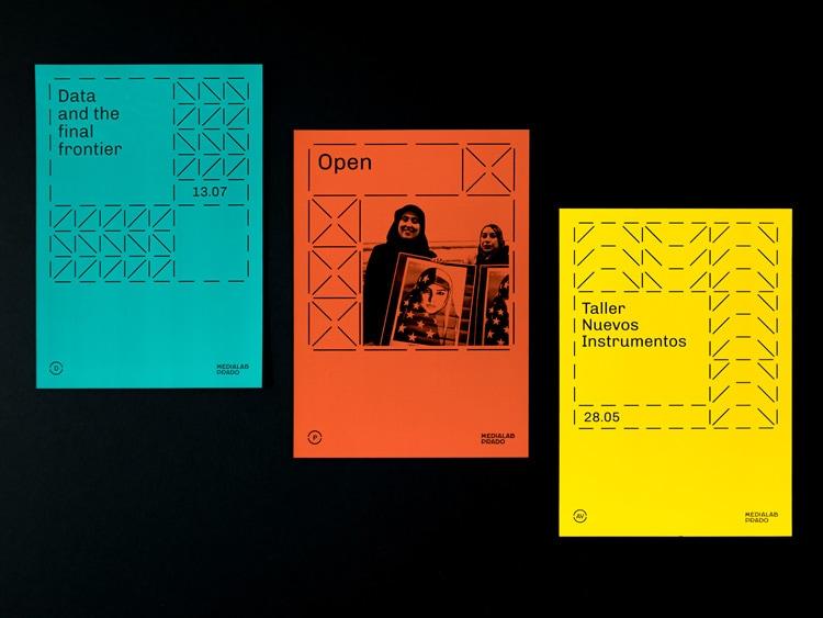 retro branding brand design brand identity mondrian primary colors bauhaus swiss school medialab prado