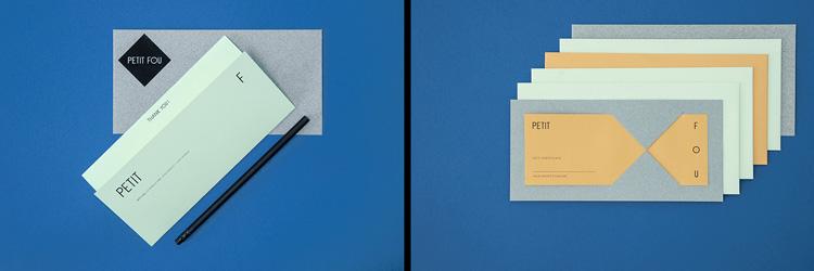 retro branding brand design brand identity mondrian primary colors bauhaus swiss school petit fou stationery