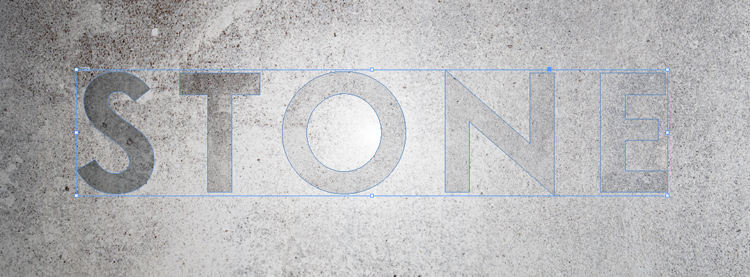 engraved stone quick typography text effect indesign adobe outline text