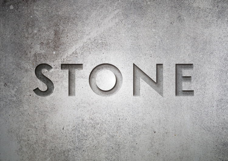 engraved stone quick typography text effect indesign adobe