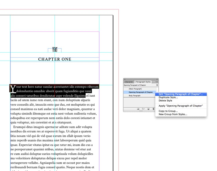 free indesign book interior inside pages template editing styles