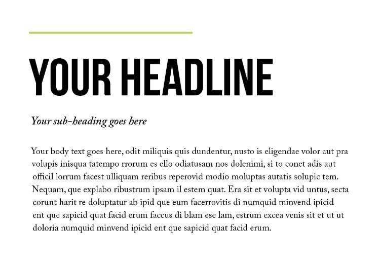 font pairing beginners typography font families typeface sans serif serif bebas neue caslon