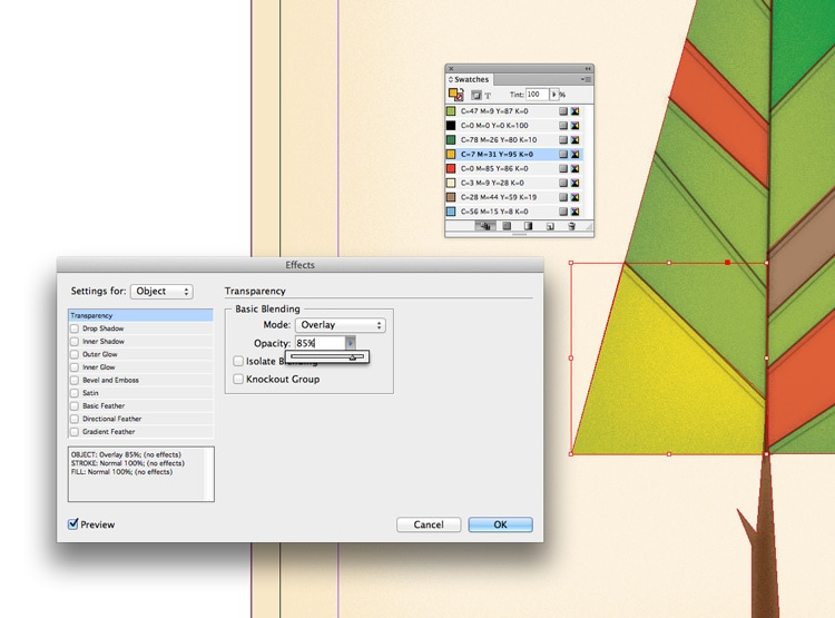 how to draw shapes illustrations in indesign transparency overlay