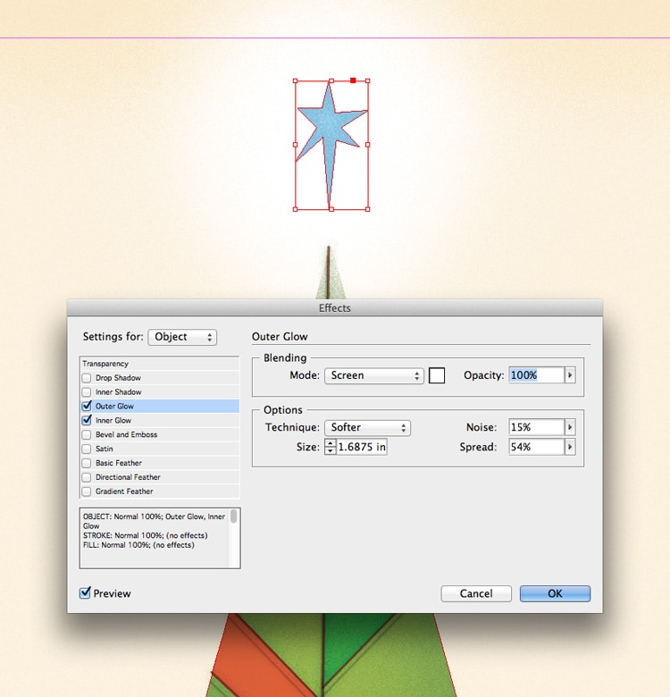 how to draw shapes illustrations in indesign outer glow