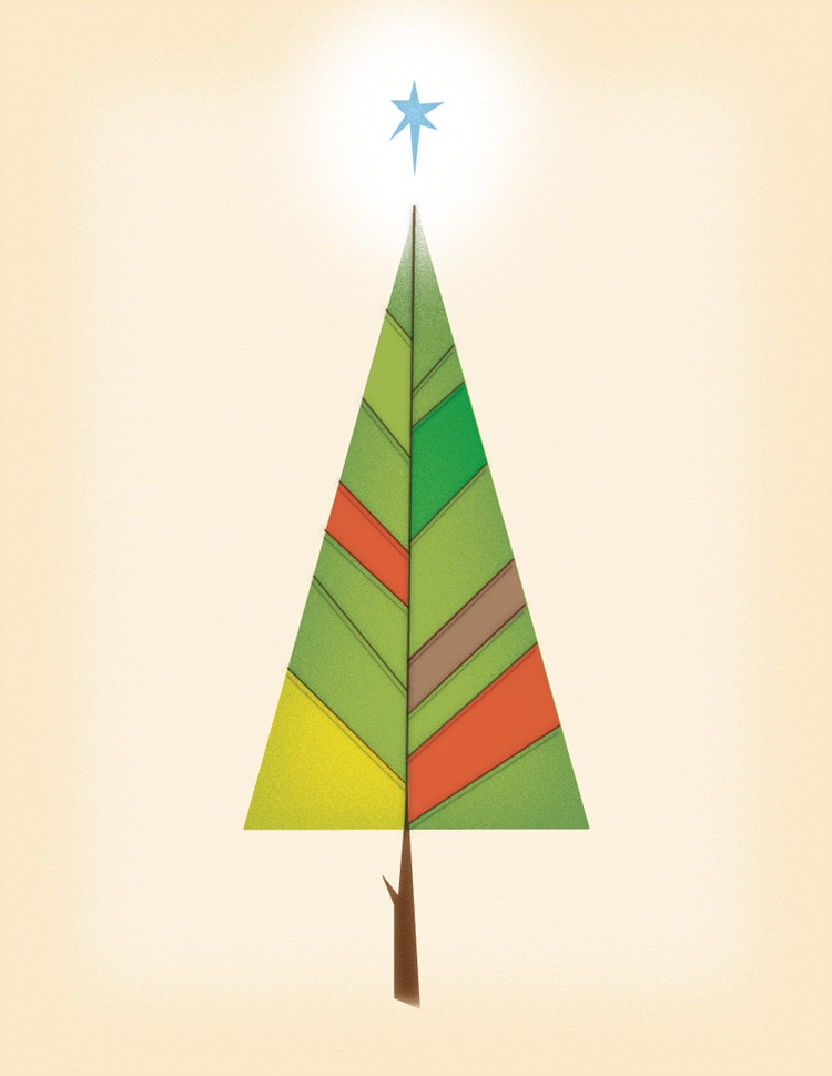 how to draw shapes illustrations in indesign final christmas winter tree