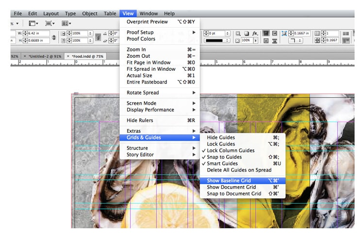 baseline grid indesign align text snap to grid leading