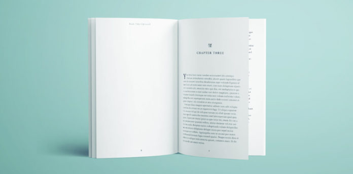InDesign book template for novel. Inside pages. Full book template.