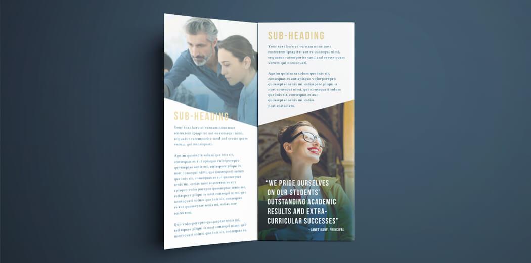 Free College Brochure Template Simple Tri Fold Design