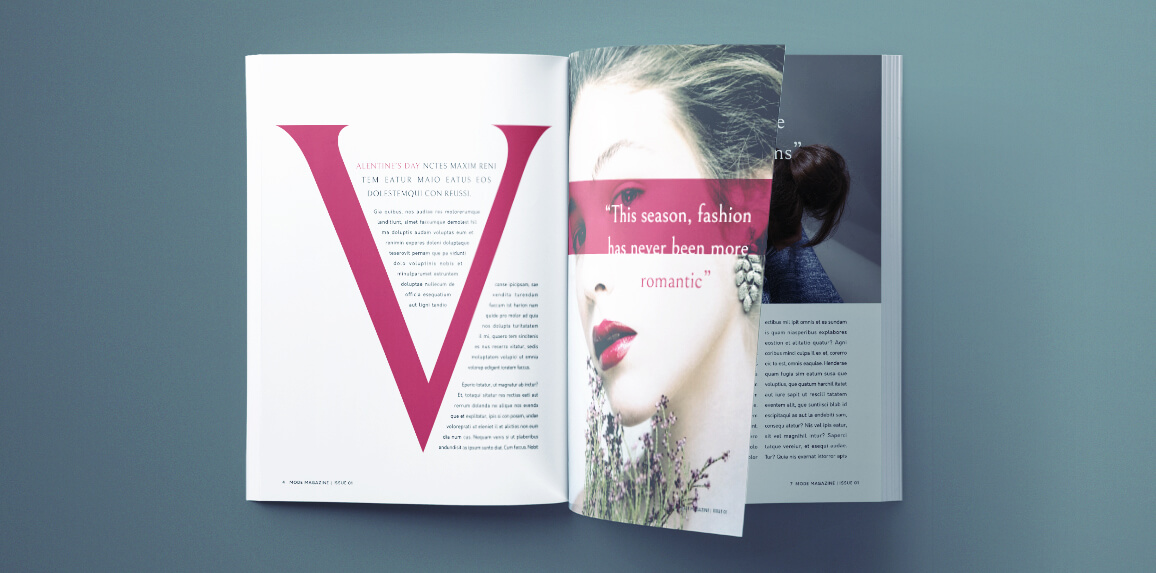 Beautiful Fashion Magazine Template For Indesign Free Download