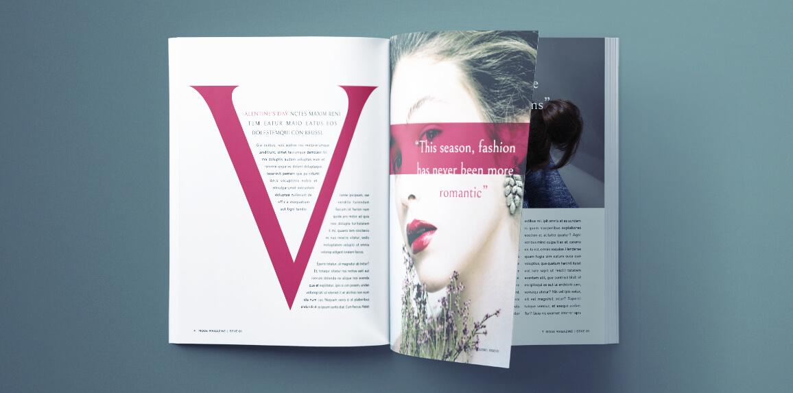 beautiful fashion magazine template for indesign