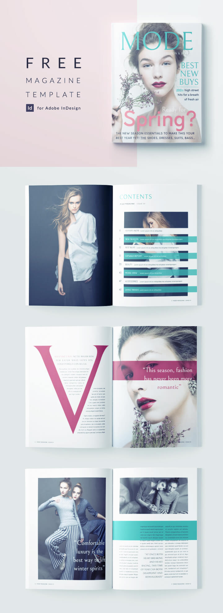 free fashion magazine template for indesign - full magazine template