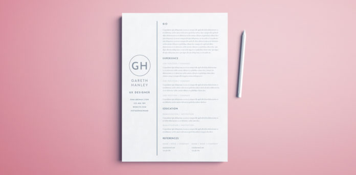 free basic resume template design for indesign