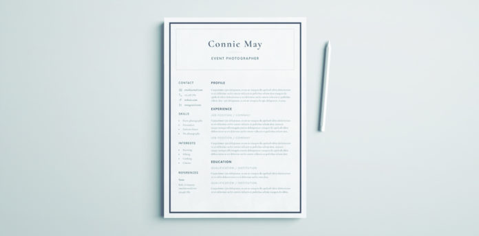 Resume Simple Template from indesignskills.com