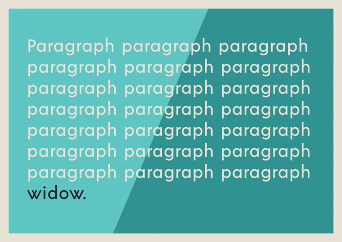 widow orphan typography solutions