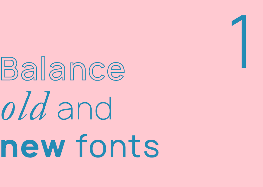typography rules you need to know indesign balance old and new fonts