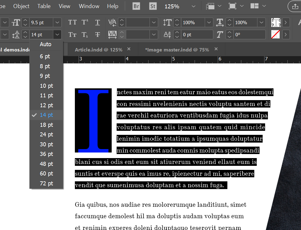 typograohy rules you need to know indesign leading