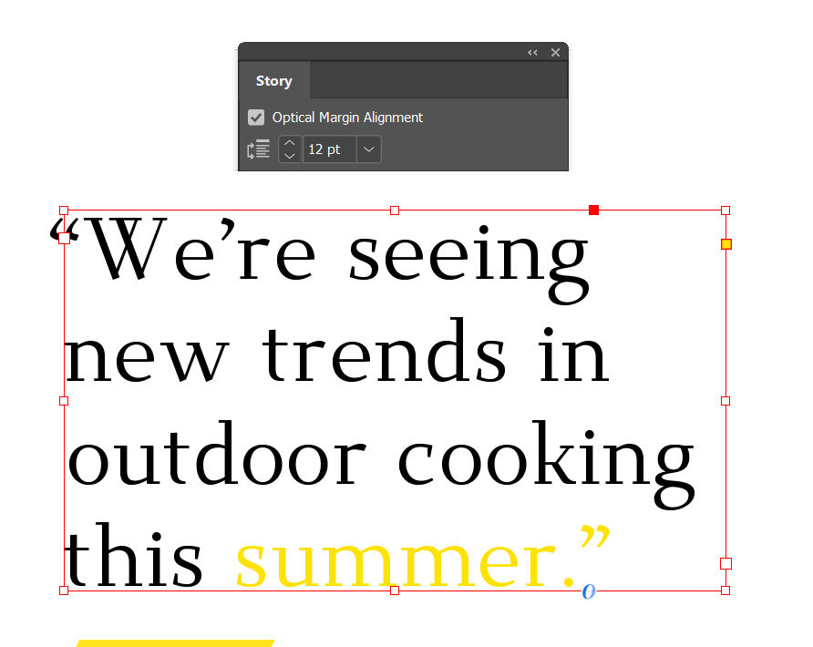 typography rules you need to know indesign optical margin alignment