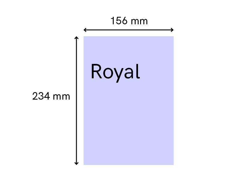 Standard book size self-publishing uk royal fiction
