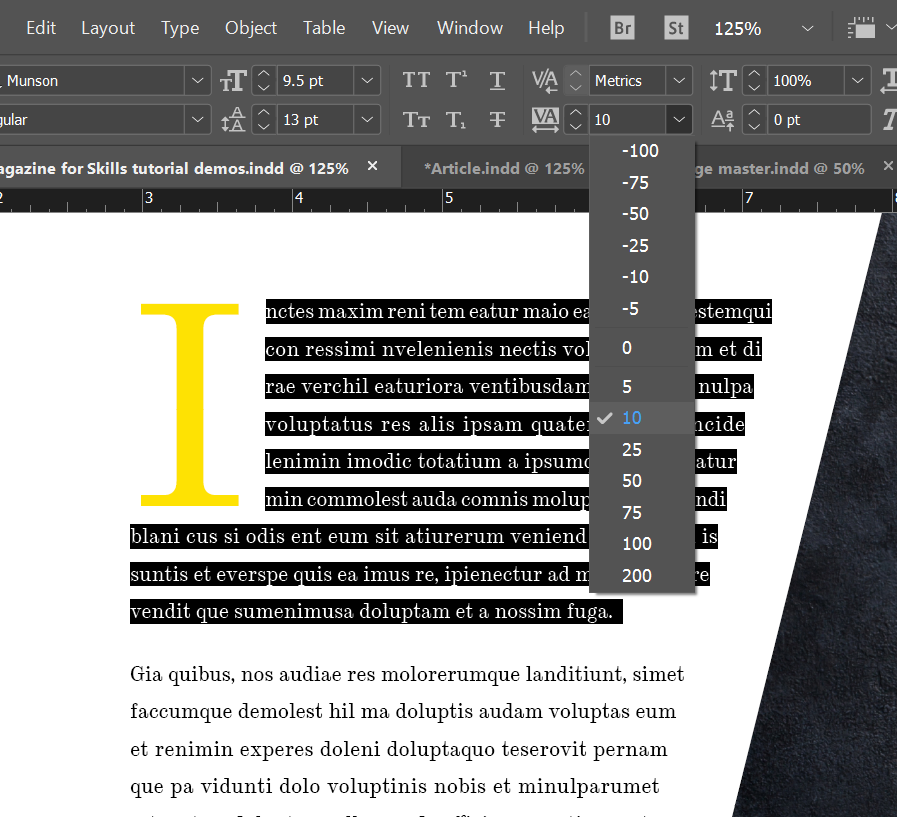 typograohy rules you need to know indesign tracking