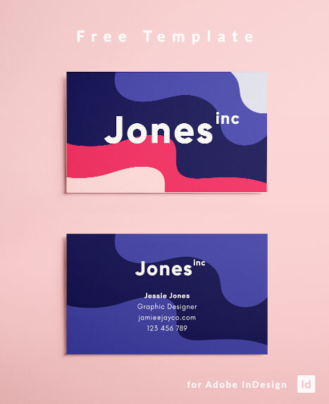 Eighties (80s) inspired business card design for graphic design.