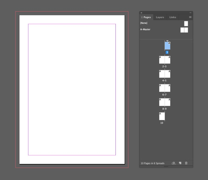 zine design indesign template