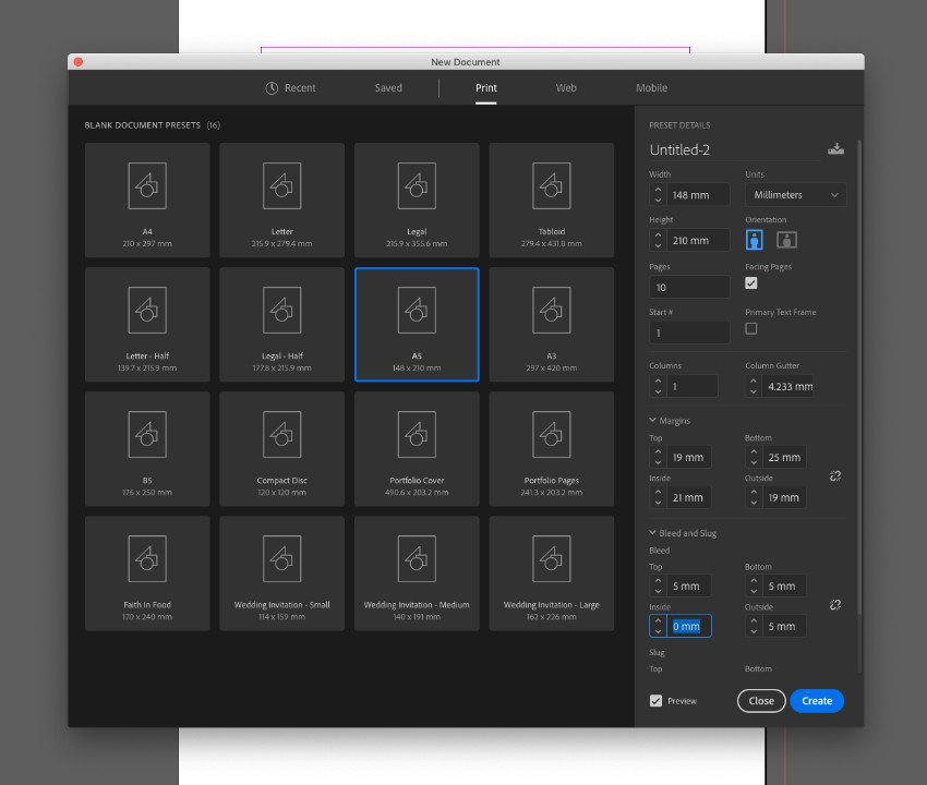 zine design indesign template new document