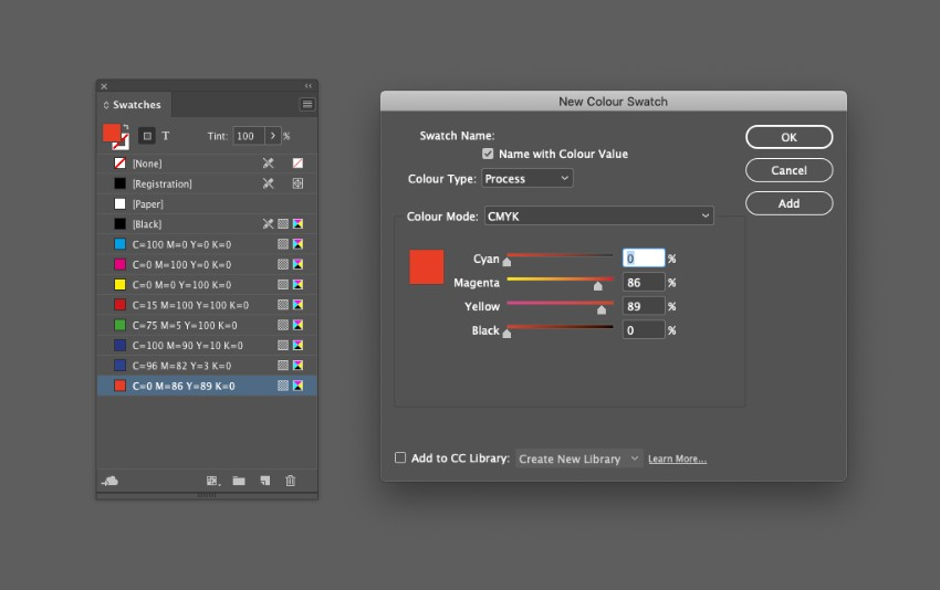 zine design indesign template swatches