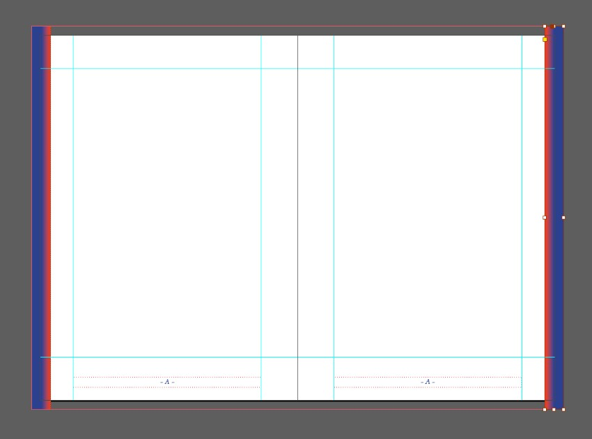 zine design indesign template page trim