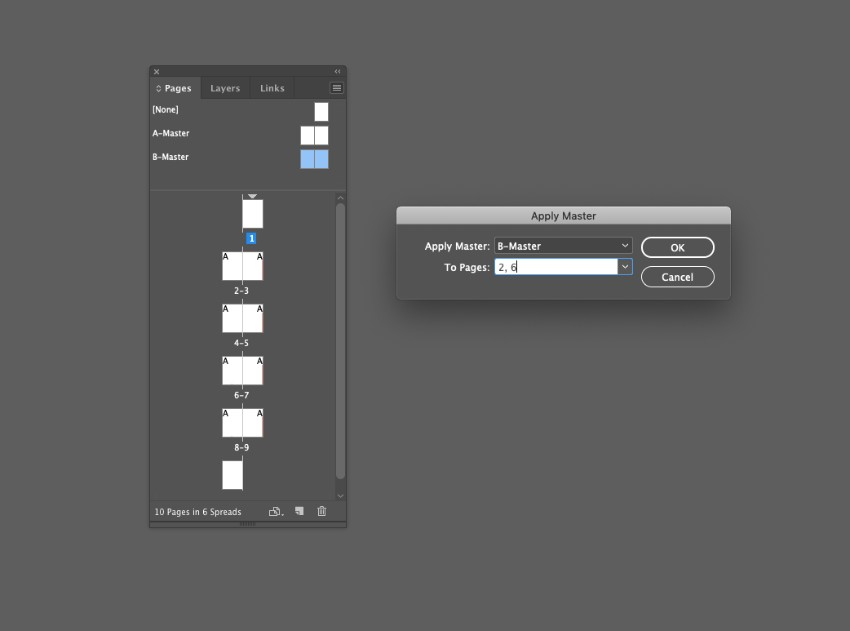 zine design indesign template master apply