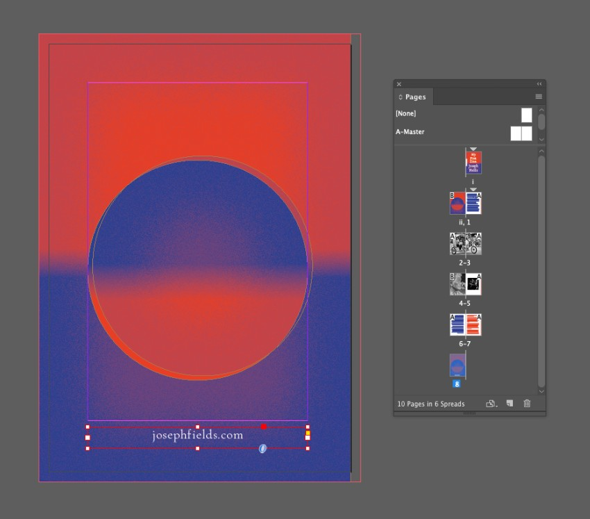 zine design indesign template back cover
