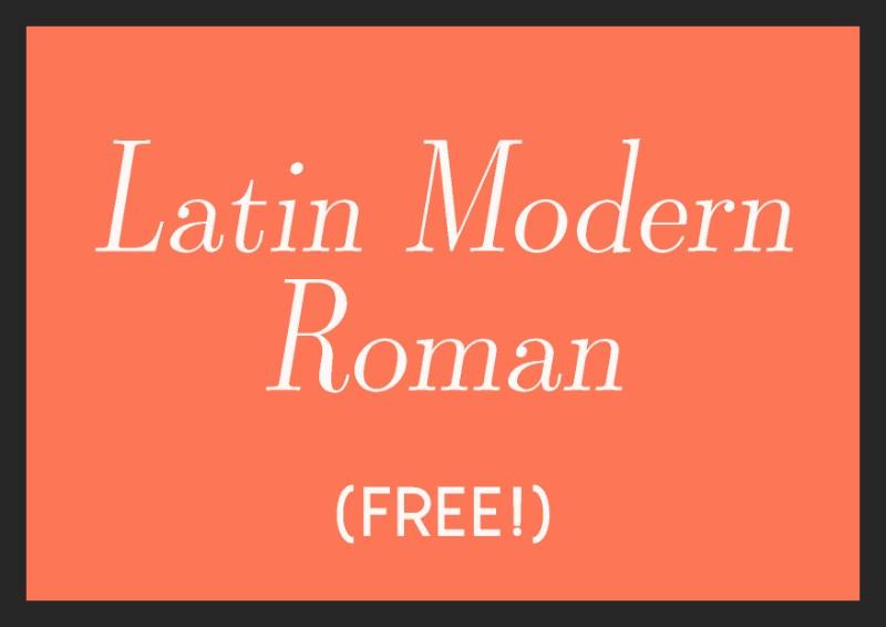 best free italic fonts latin modern roman