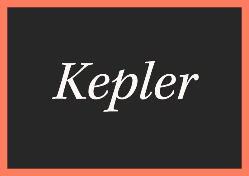 best free italic fonts kepler