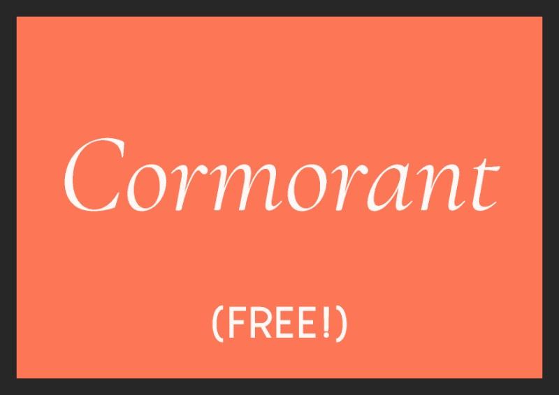 best free italic fonts cormorant