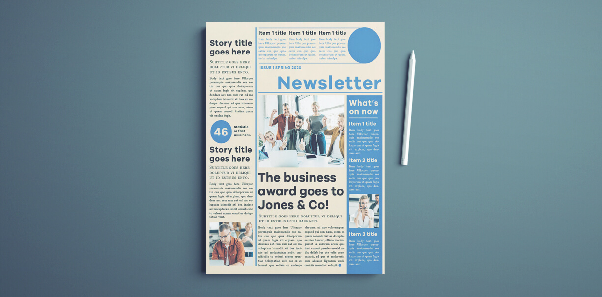 newsletter-cover Newsletter Templates For Beginners on free office, microsoft publisher, classroom weekly, fun company, free printable monthly, microsoft word,