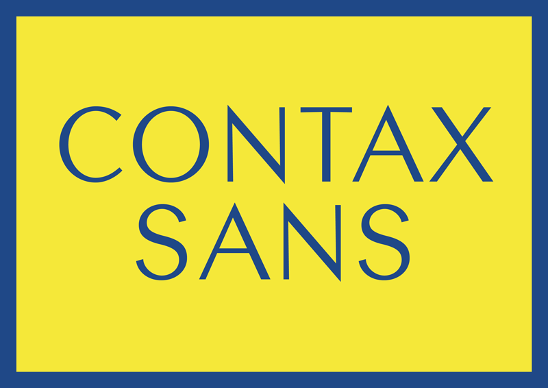 best free fonts for branding and logo design contax sans