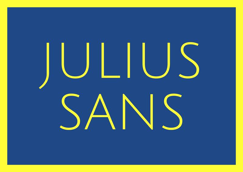 best free fonts for branding and logo design julius sans