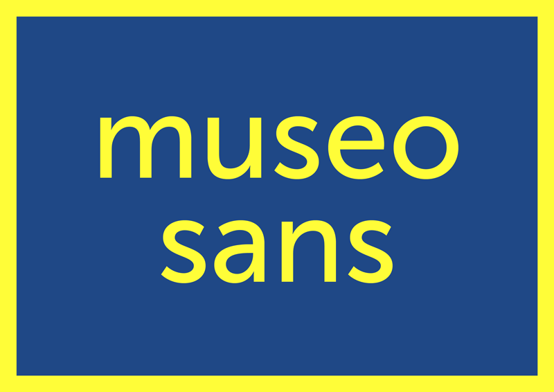best free fonts for branding and logo design museo sans