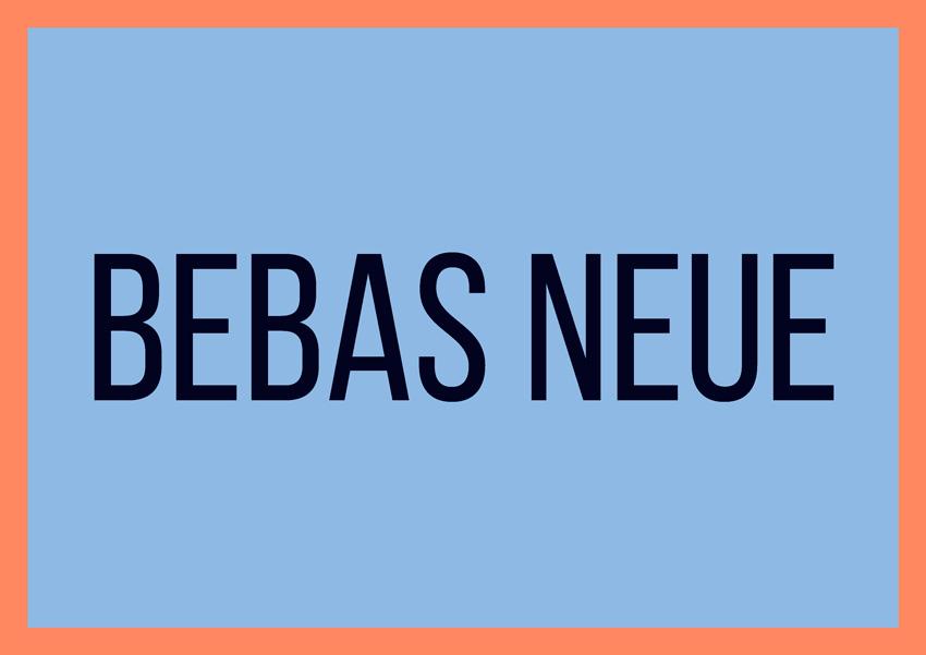 best free fonts for branding and logo design bebas neue