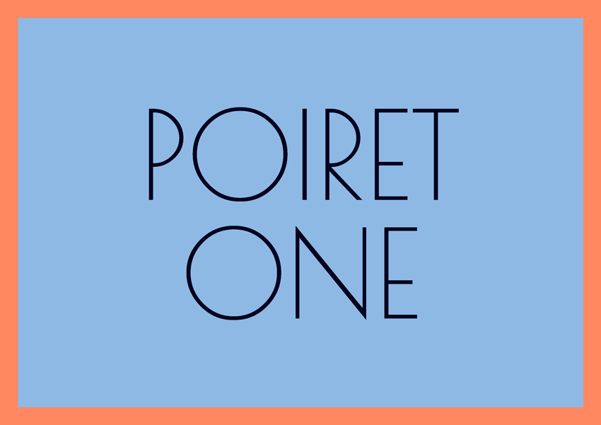 best free fonts for branding and logo design poiret one