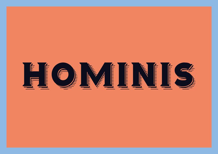 hominis branding logo fonts