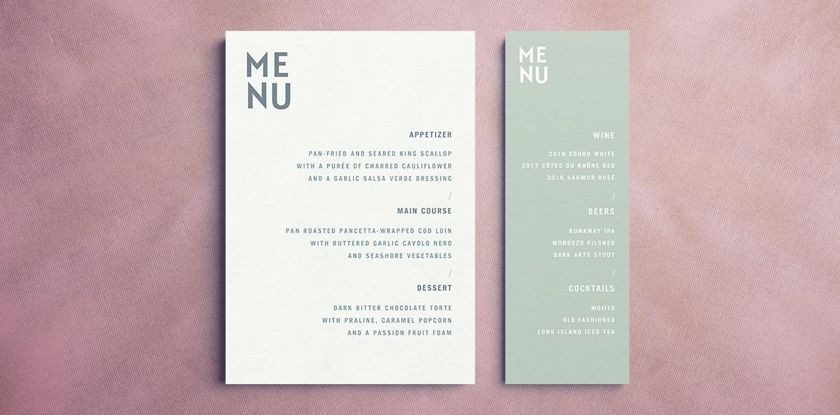 free indesign menu template wedding menu events menu restaurant menu