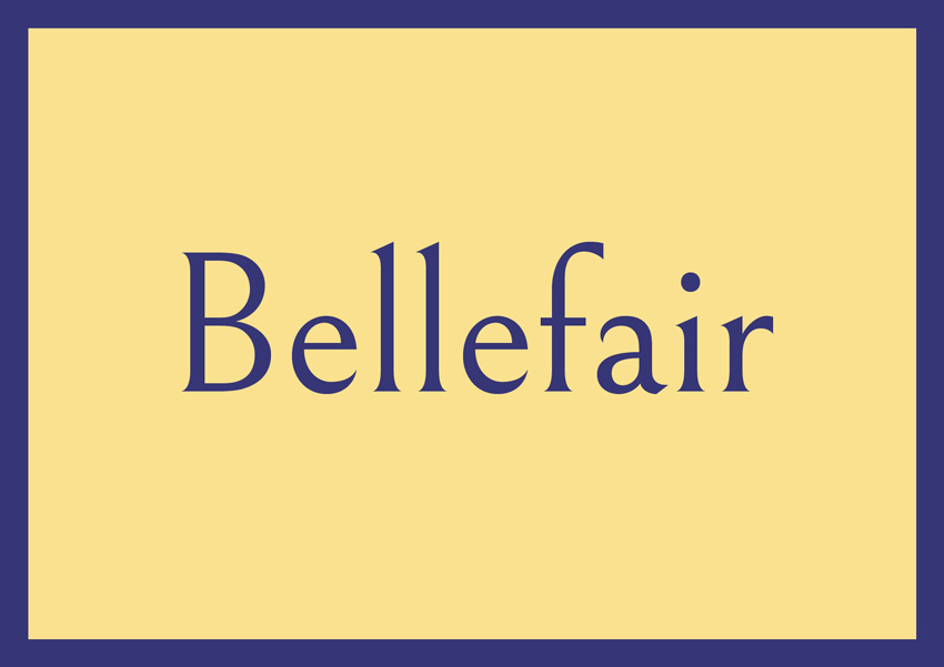best free serif fonts traditional fonts bellefair