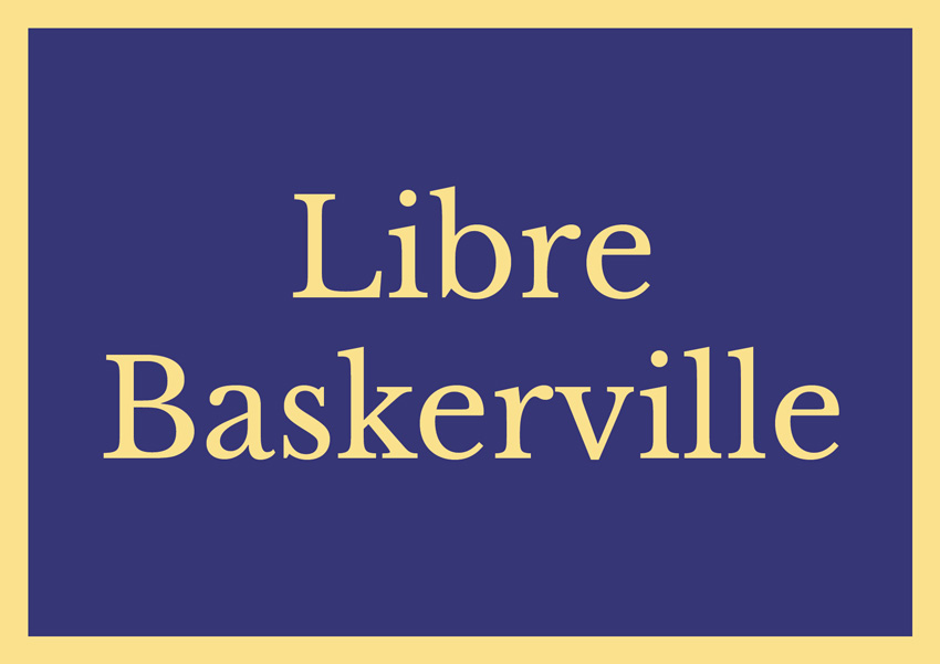 best free serif fonts traditional fonts libre baskerville