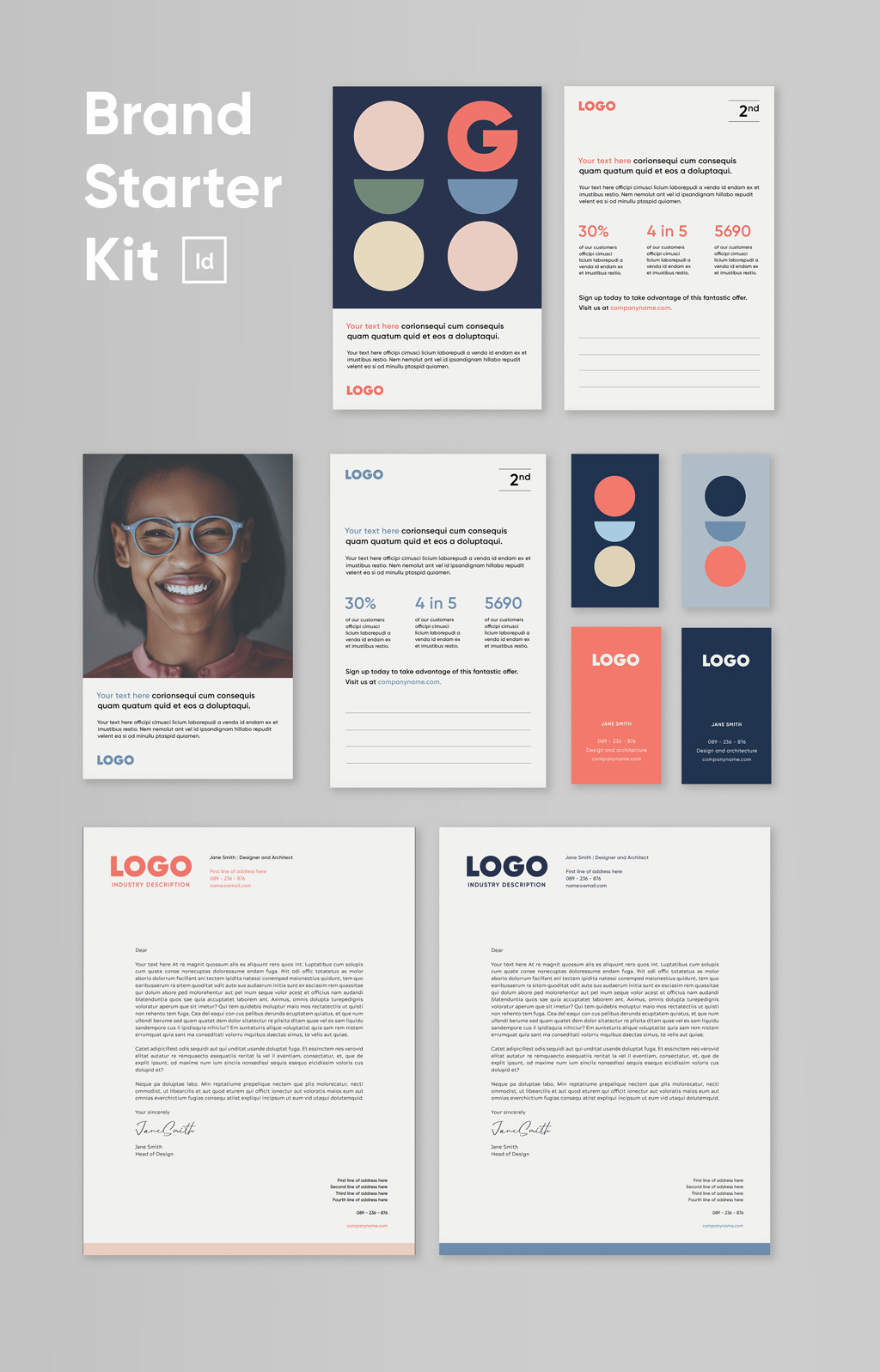 brand starter kit brand guidelines template indesign brand identity template adobe indesign new business indesign templates