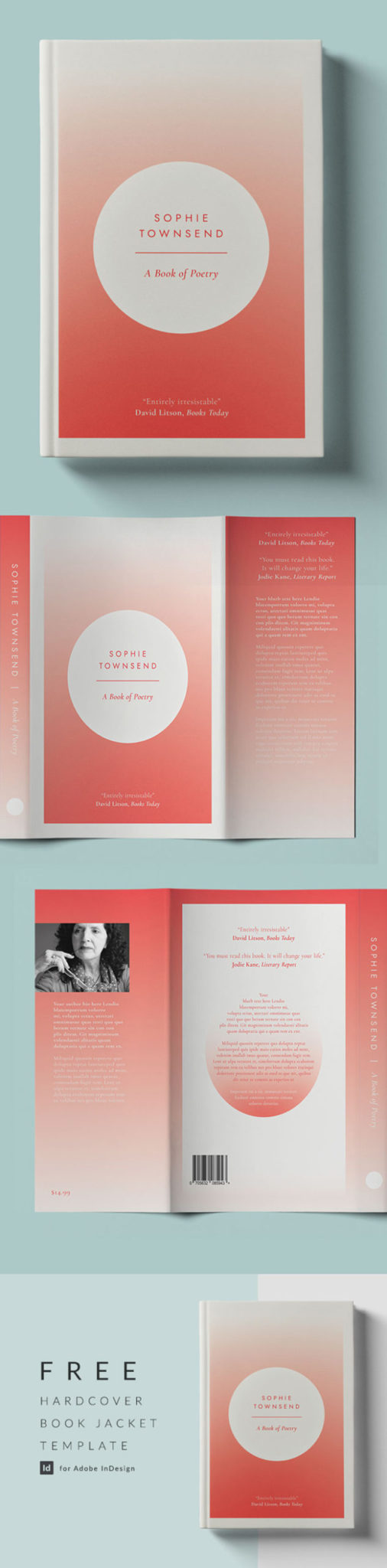 free book jacket template indesign free indesign dust jacket book hardcover hardback US trade