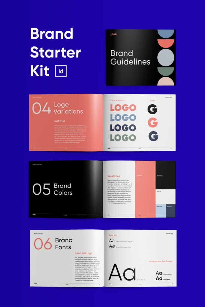 Download Brand Starter Kit for InDesign | Brand Guidelines Template ...