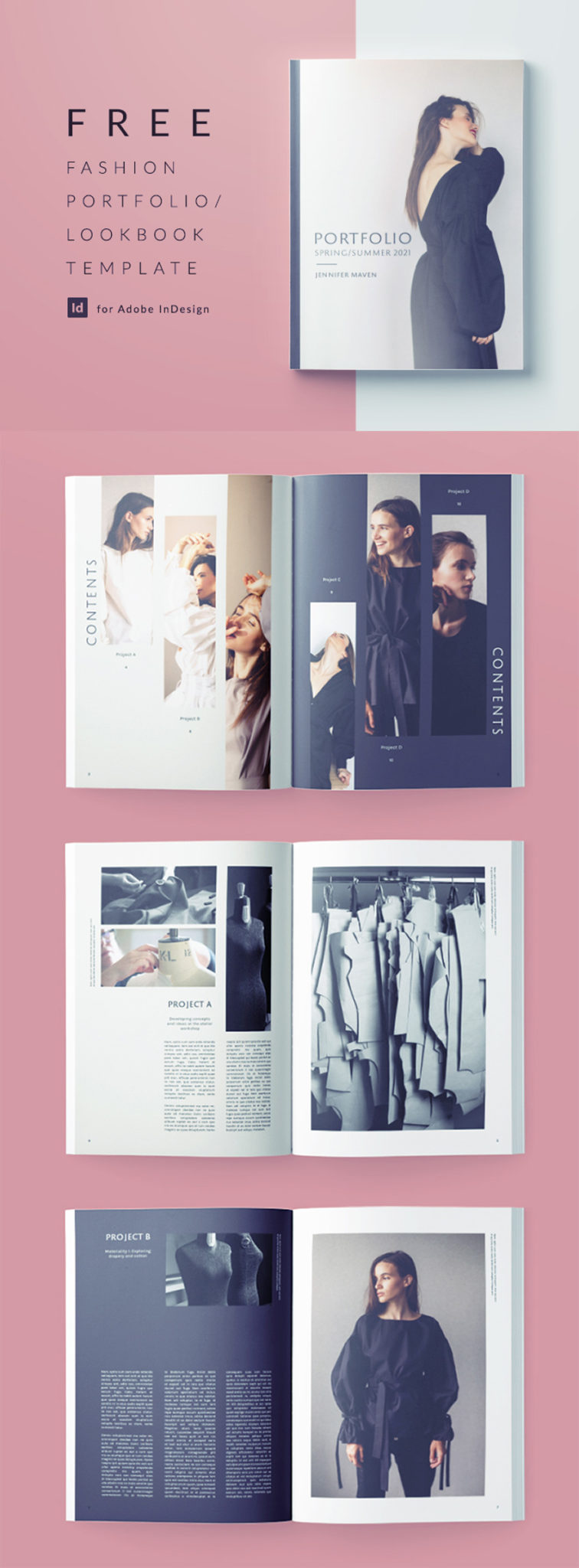 Fashion Portfolio And Lookbook Template For Indesign Free Download
