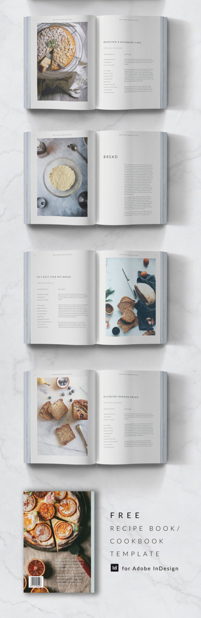 free indesign template free recipe book template free cookbook template free cookery book template for indesign